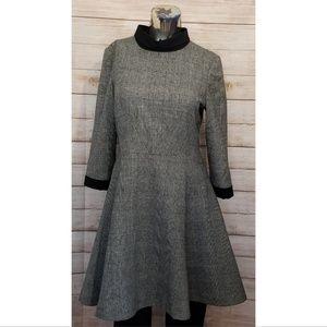 Ted Baker London Herringbone Wool Blend Dress